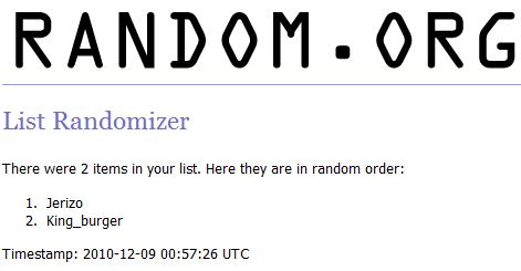 Christmas giveaway winner 6th