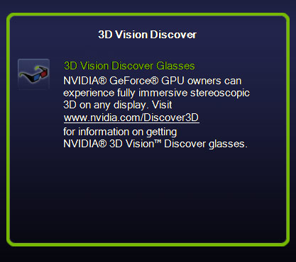 Enable 3D Vision Discover
