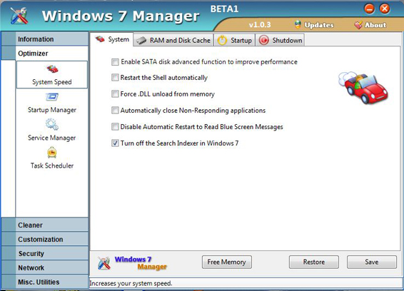 Windows 7 Manager