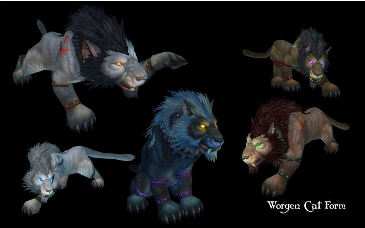 Worgen vs. Night Elf Druid Forms - World of Warcraft Forums