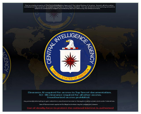 CIA Screensaver Logo