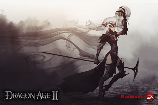 You can download all of the new and old Dragon Age 2 Wallpapers from here:
