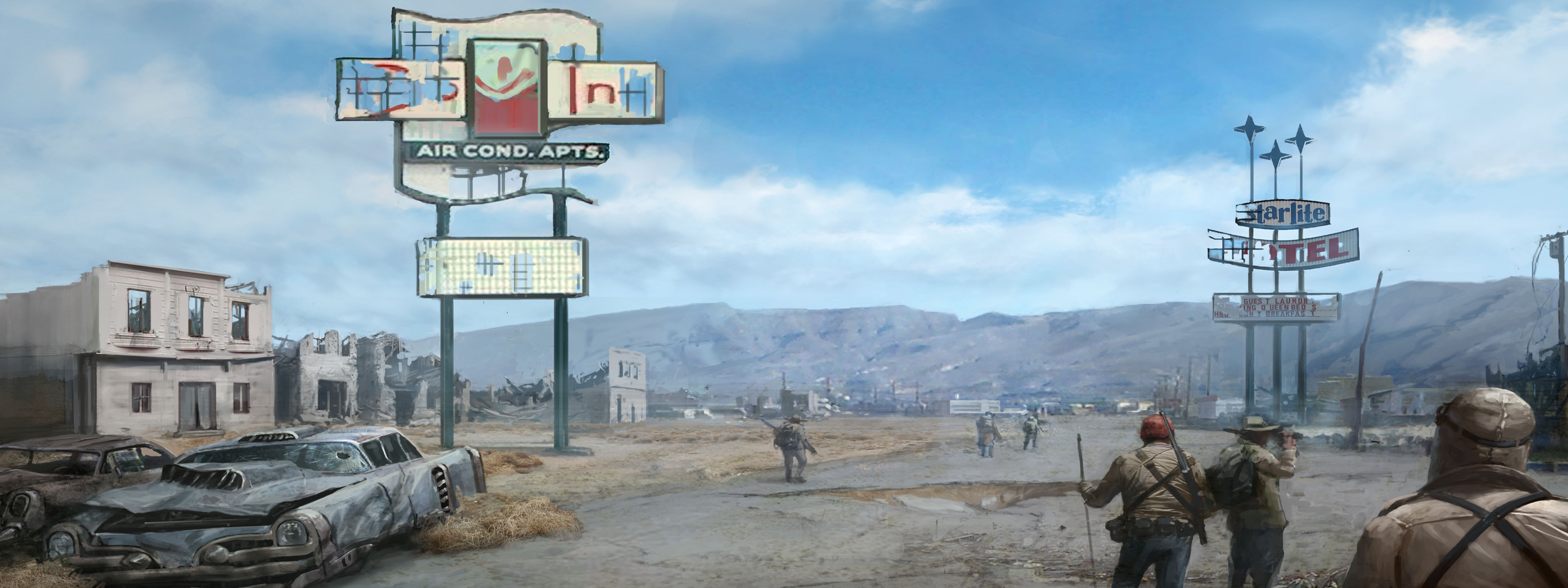 fallout dual screen wallpaper 2 big Dual screen wallpaper video games
