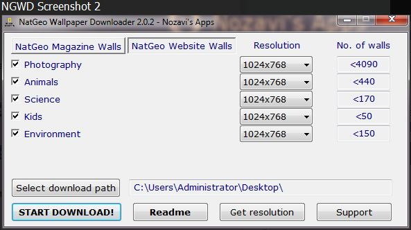 National Geographic Wallpaper Downloader 2