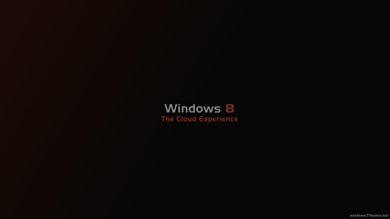 The theme also includes a new Windows 8 wallpaper (very minimalistic).
