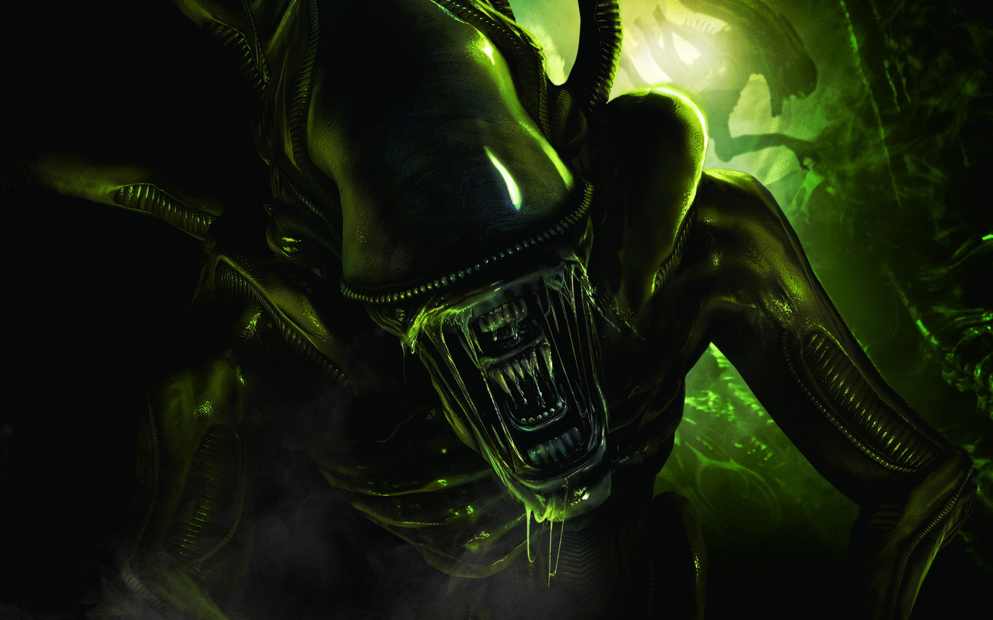 windows 7 alien theme with aliens colonial marines wallpapers