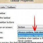 Windows Taskbar: Combine or Never Combine Taskbar Buttons in a Group