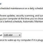 Change Maintenance Settings: Wake Computer From Hibernate or Standby
