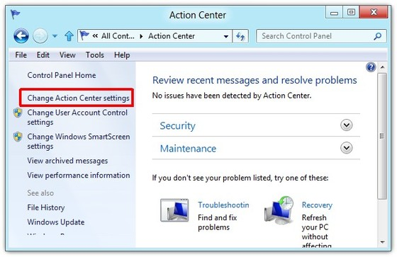 Disable Windows Action 4
