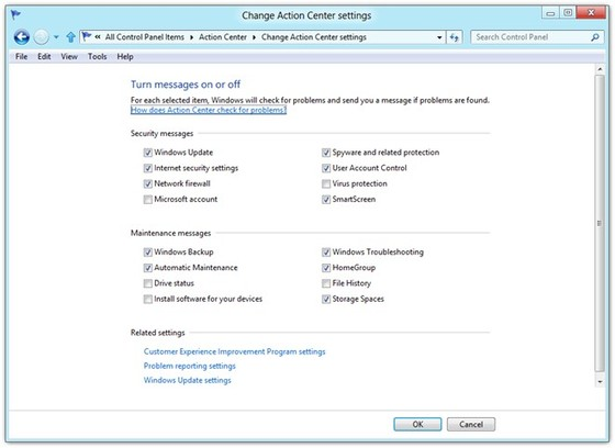 Disable Windows Action 5