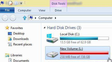 Hard disks: Change the drive letters in Windows 8 using the Disk Manager
