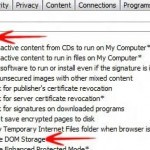 "Part 2: Enable or Disable Internet Explorer DOM Storage ""Cookies"""