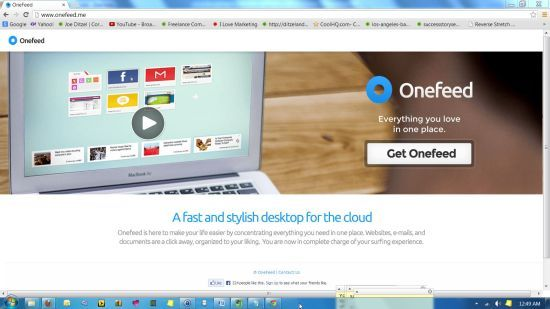 Google Reader Alternative: Onefeed Displays Your RSS Feeds And A Speed Dial In Every New Tab