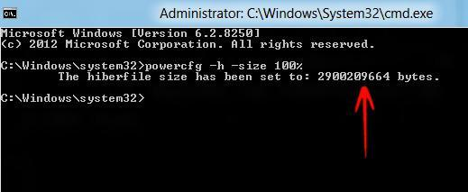 Space Management: How to Change The Size Of The Hiberfil.sys File In Windows 8?