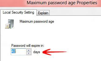 Expiration Date: Change Password Age Policy When Users Have To Change Their Login Password