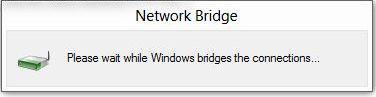 Networking Questions: How to bridge connections in Windows 8 properly?