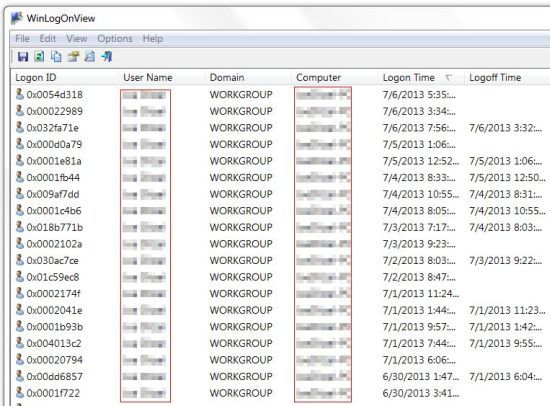 WinLogonView: How To Keep Track Of Logon And Logoff Activity