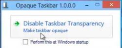 How To Disable Windows 8 Transparency Feature