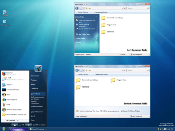 Windows 7 Theme for Vista and XP