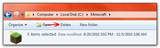 Add Delete Button to Windows 7 Explorer