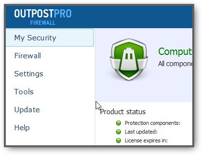 Download Agnitum Outpost Firewall Pro For Windows 8.1