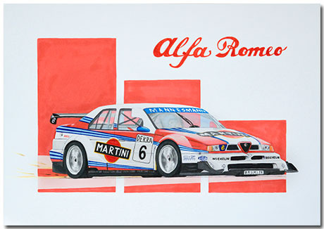 Alfa Romeo155 Theme With 10 Backgrounds