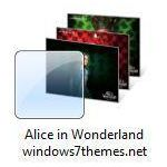 alice in wonderland windows 7 theme jpg