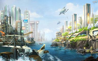 Futuristic Windows 7 Theme With Anno 2070 HD Wallpapers