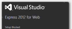Fix: Installing Visual Studio 2012: Setup Blocked, Another Setup Is Already Running