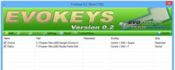 Use EvoKeys to assign hotkeys and launch programs in Windows 7, 8 and 8.1