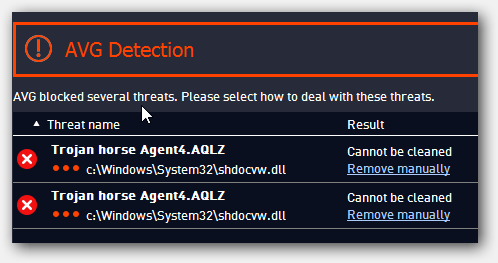 AVG Possibly Hit By False-Positive: Trojan Horse Agent4.AQLZ (shdocvw.dll and explorer.exe)
