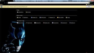 Google Chrome Batman Theme