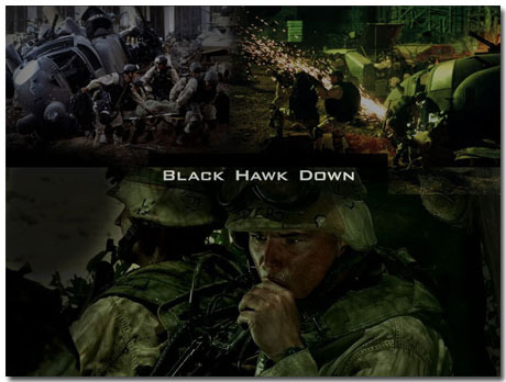 Black Hawk Down Theme With 10 Backgrounds