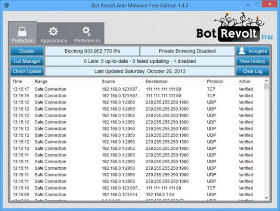 Bot Revolt Anti-Malware stops malware from attacking your PC