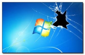 Broken Windows 7 Theme With Blank Icons & Start Button
