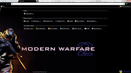 Dark Google Chrome Call of Duty Modern Warfare 2 Theme