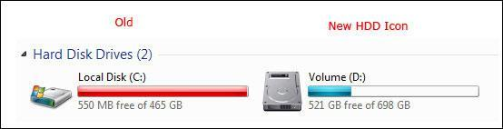 How to change hard drive icon in Windows 7