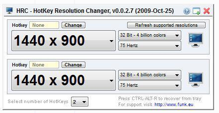 How to change screen resolution in Windows 7 (via shortcut or registry)