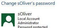 Change User Account Password in Windows 8
