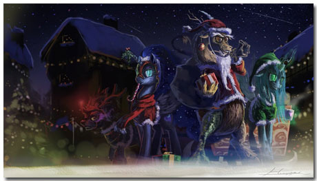 10 Mixed Christmas Eve Wallpapers: Anime, Games, Traditional