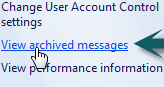 Old PC Problems: Check Event Log / View archived messages in Action Center