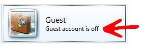 Deleting Guest Account in Windows 7