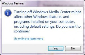 How To Uninstall, Disable Or Remove Windows 7 Media Center