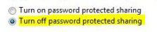 How to Disable Password Protected Sharing in Windows 7?