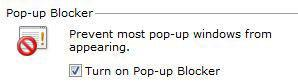 How to disable pop-up blocker in Internet Explorer 9