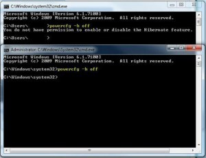 Disable Windows 7 Hibernation (Works on Windows 8)