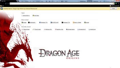 Google Chrome Dragon Age Theme (Logo Version)