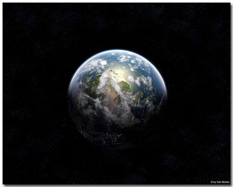 Earth Wallpaper Theme With 10 Backgrounds