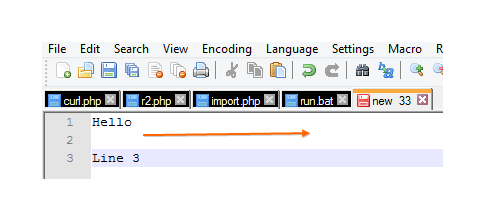Notepad++: Add character to start or end of line and replace empty lines or special characters