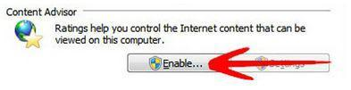 Enable/Disable Content Advisor in Windows 7
